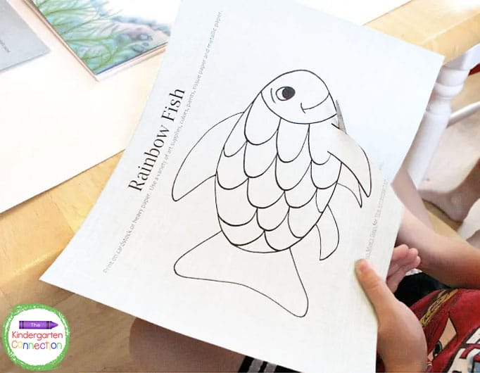 This free Rainbow Fish craft printable will make creating your masterpieces a breeze!