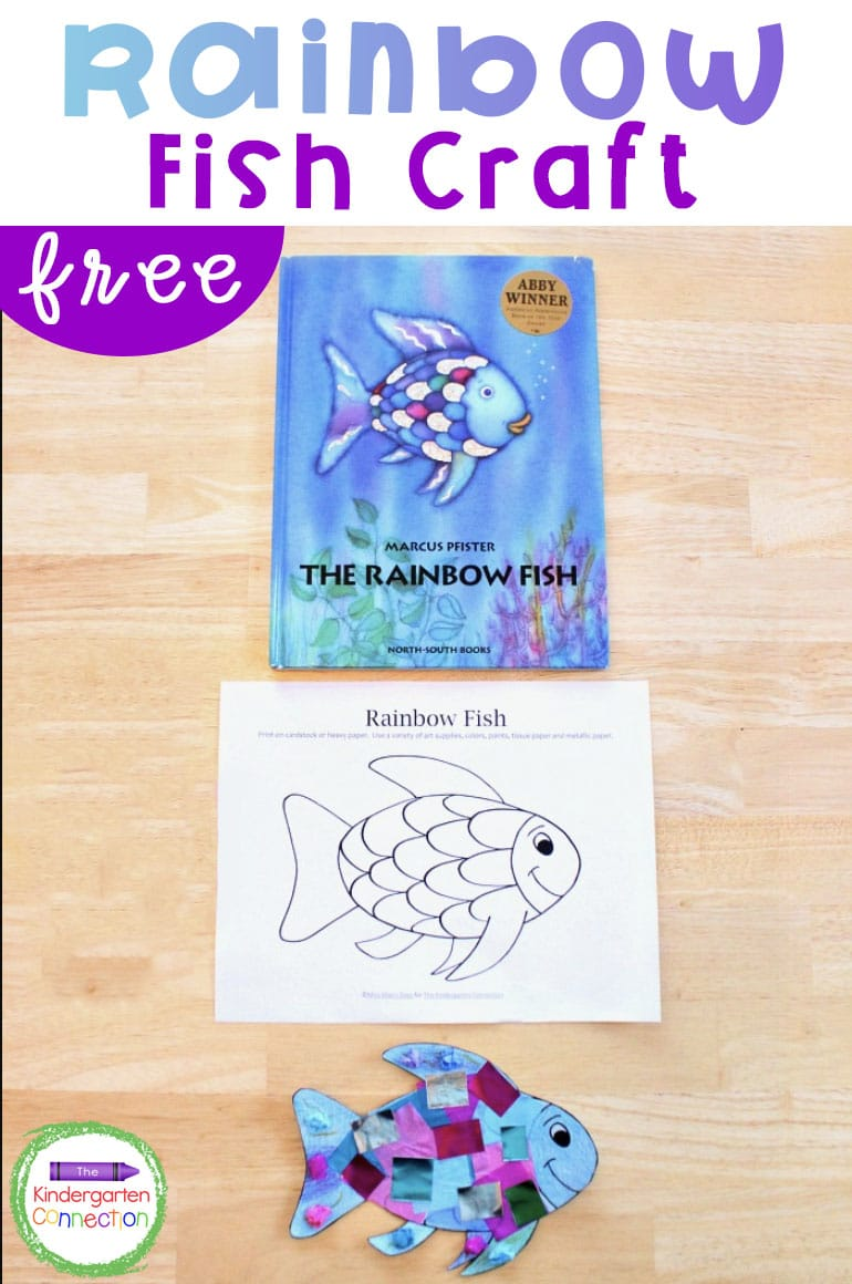 "This rainbow fish craft is the perfect companion to the beloved book ""The Rainbow Fish."" It is so bright and colorful - kids love it!"