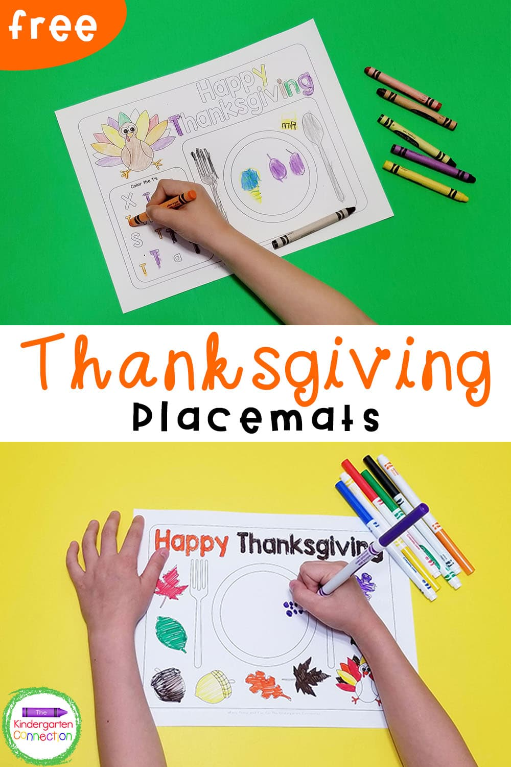 These FREE Printable Thanksgiving Placemats for kids will make your Thanksgiving meal at home or in the classroom extra special this year!