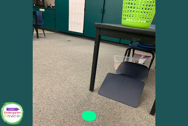Scoop chairs allow you to space your students out around the room as needed while teaching with social distancing.