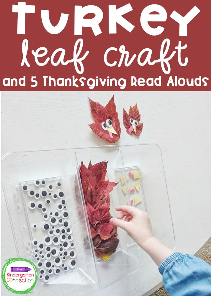 Check out our simple turkey craft for kids and top 5 Thanksgiving read alouds to add some fall fun to your Pre-K or Kindergarten classroom!