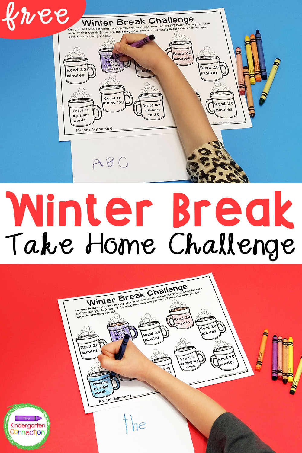 Help keep important skills sharp over break with this FREE editable winter break homework. It's perfect for Pre-K, Kindergarten, and 1st grade!
