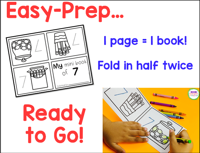 These printable mini-books are so easy to prep. Just print and fold in half twice!