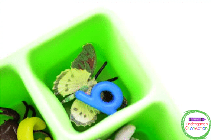 The deeper ice cube trays work great for larger toy animals and letter beads.