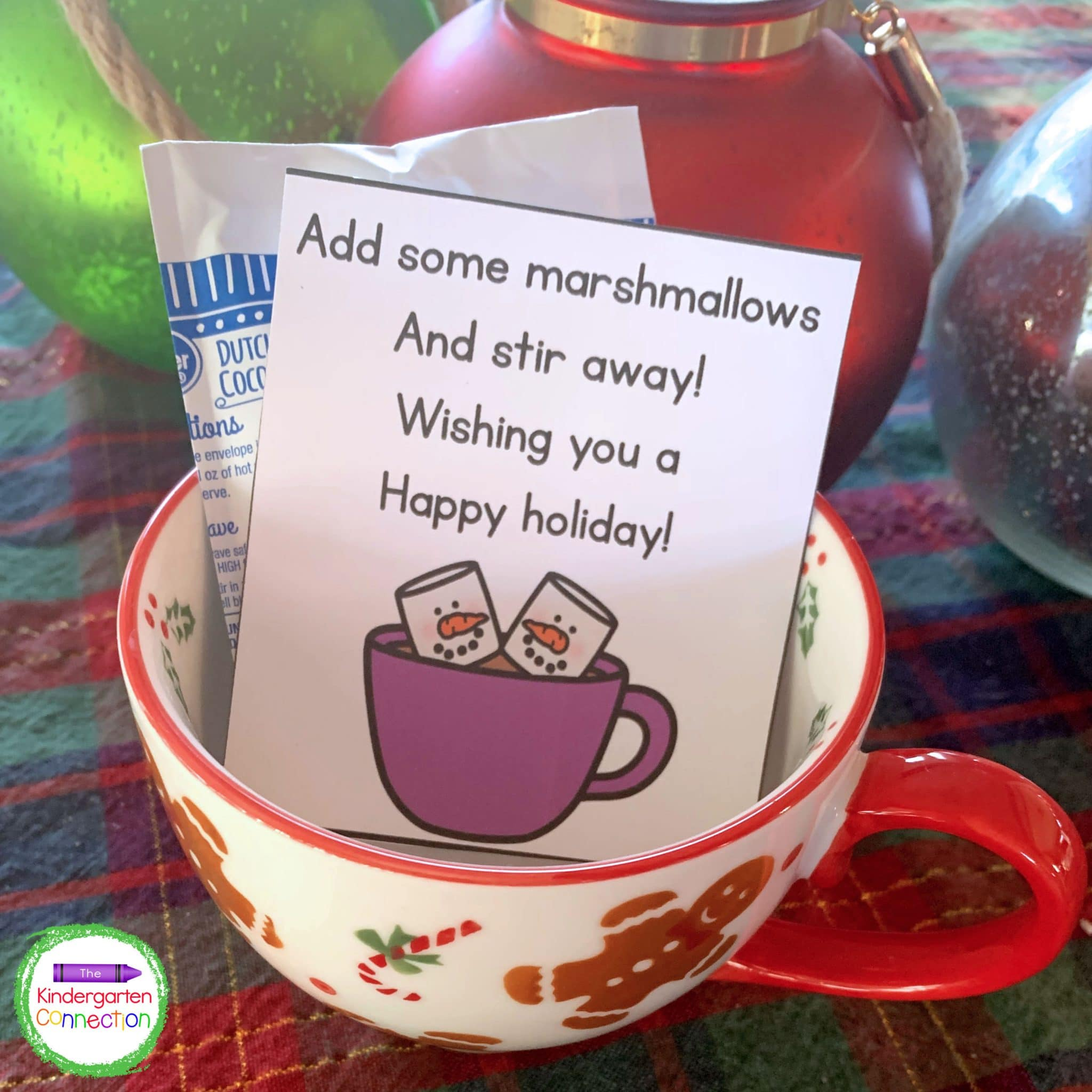 Attach the gift tags to a packet of hot cocoa and you have a simple and inexpensive student gift.