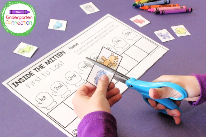 Work on sequencing OR simply focus on cut and paste skills with the quick-print story activity sheets.