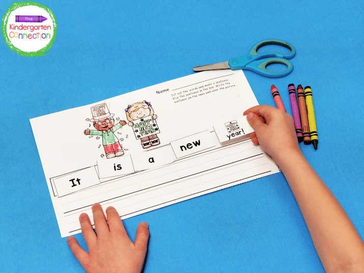 Cut the words apart and glue in the correct order on the recording sheet.