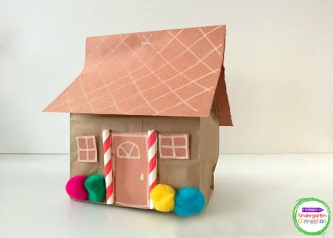 These easy paper bag gingerbread houses turn out so cute and they are really easy to prepare.