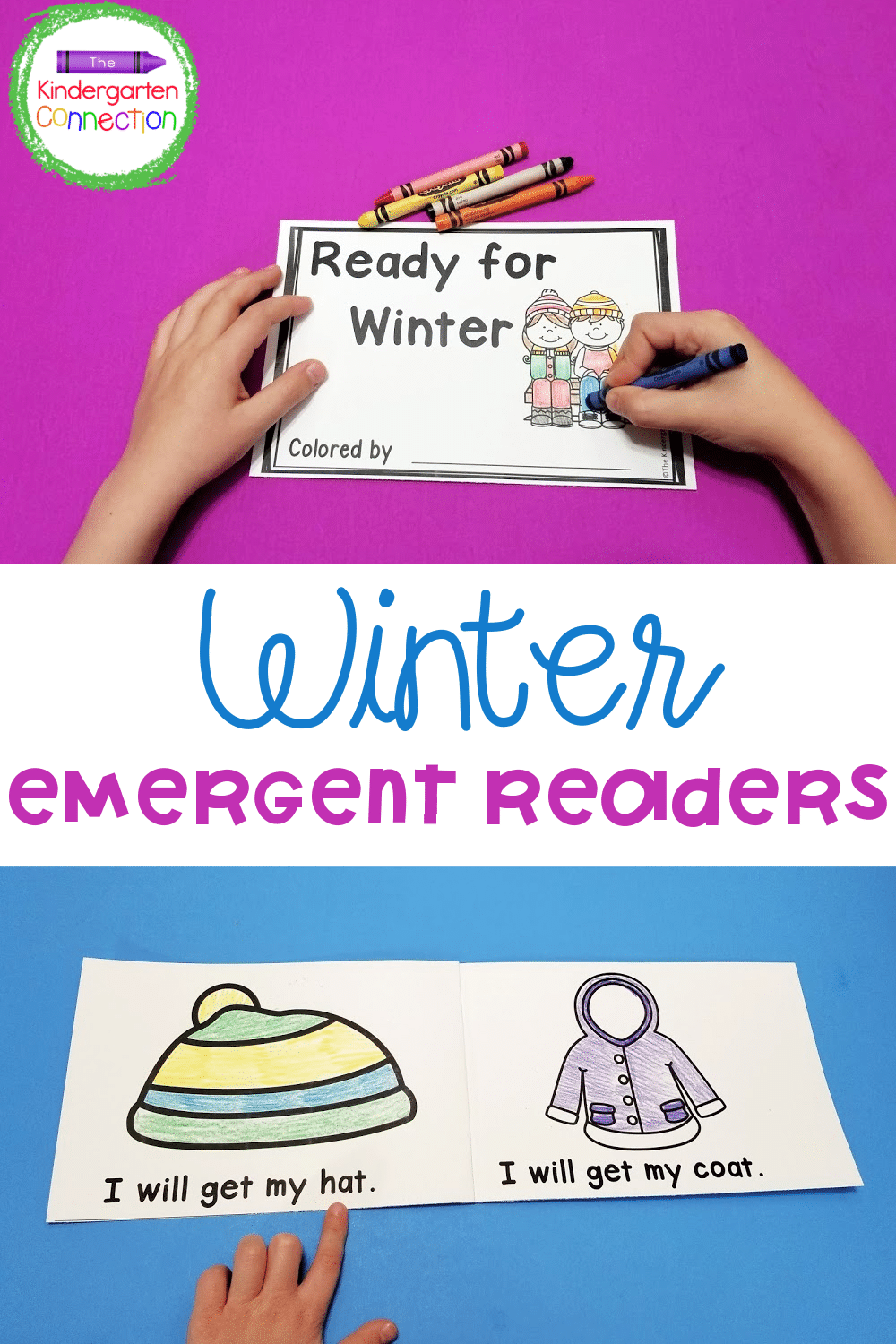 These printable winter emergent readers are great for early readers to use as guided reading books or take home books in Kindergarten!