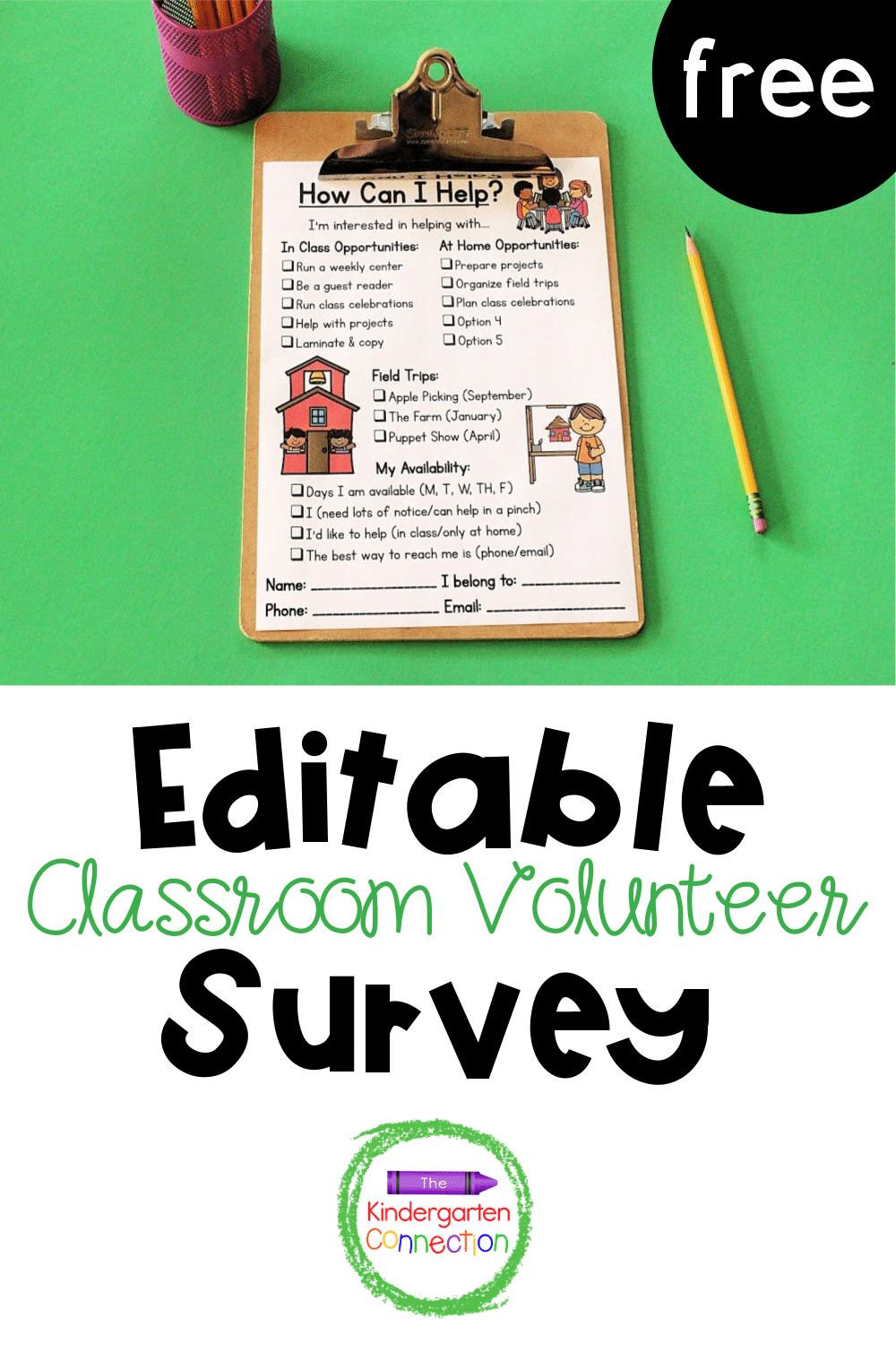 Finding the right fit for classroom volunteers matters. Start with this free volunteer survey and ask what talents they are excited to share!