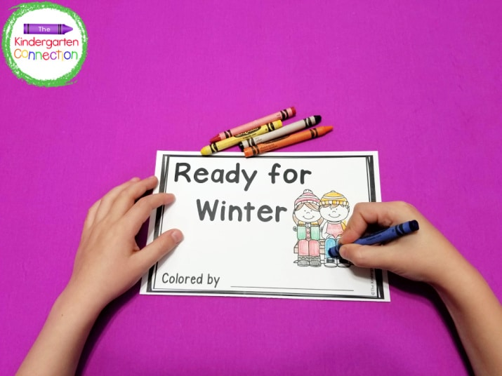 """""""Ready for Winter"""" focuses on sight words I, will, get, and my."""