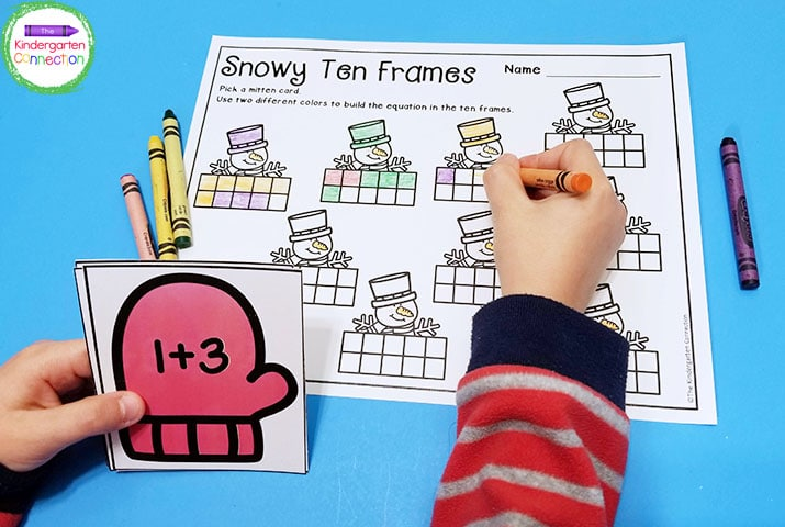Snowy Ten Frames is a fun game to practice addition.