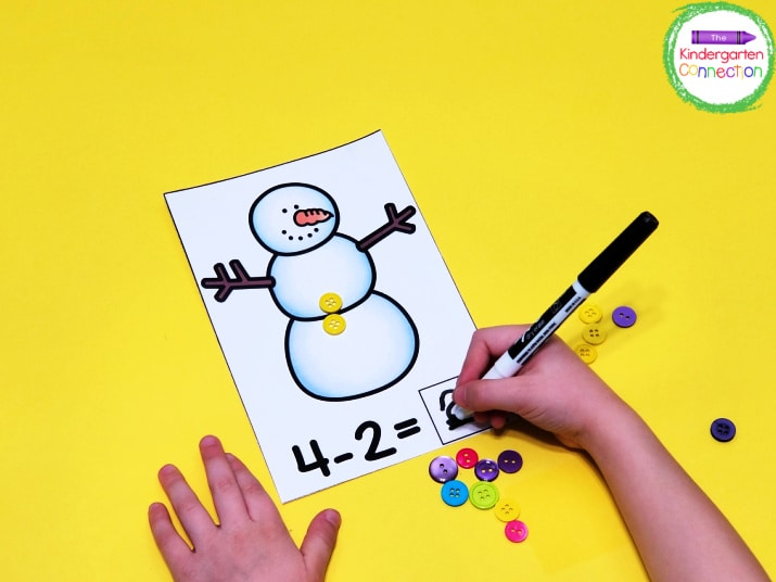 Your students will love writing the equations with dry erase markers.