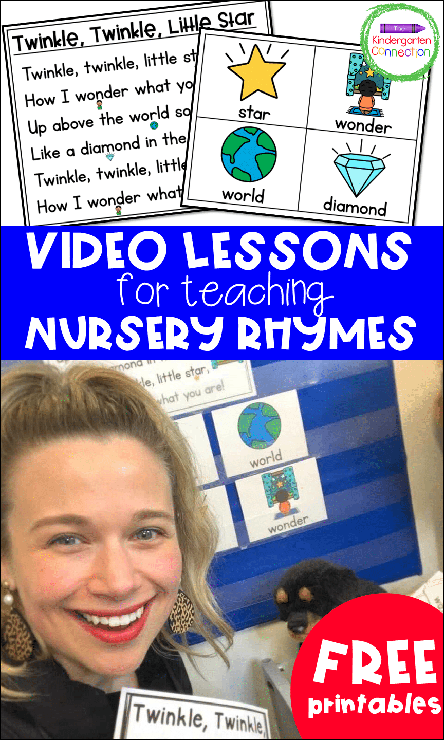These video lessons for teaching with nursery rhymes add tons of fun to your lessons while also offering great practice with rhyming words!