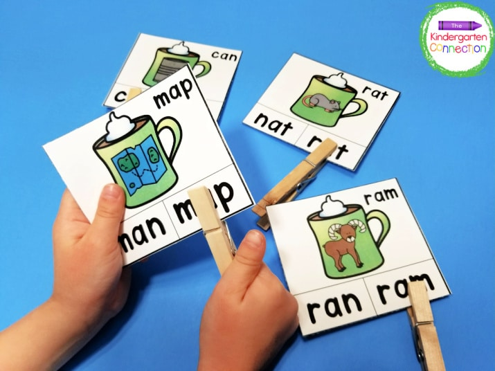 This winter activity pack includes hands-on clip card centers!