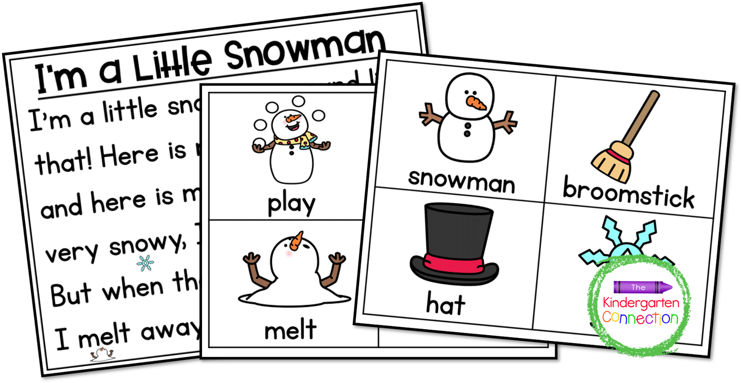 This Snowman Song for circle time comes with a matching set of sequencing cards.