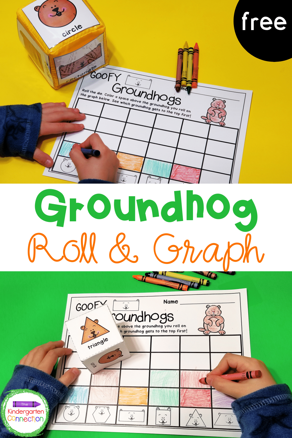 Add this FREE roll and graph Groundhog Day activity to your math centers this winter for low-prep, hands-on learning fun!