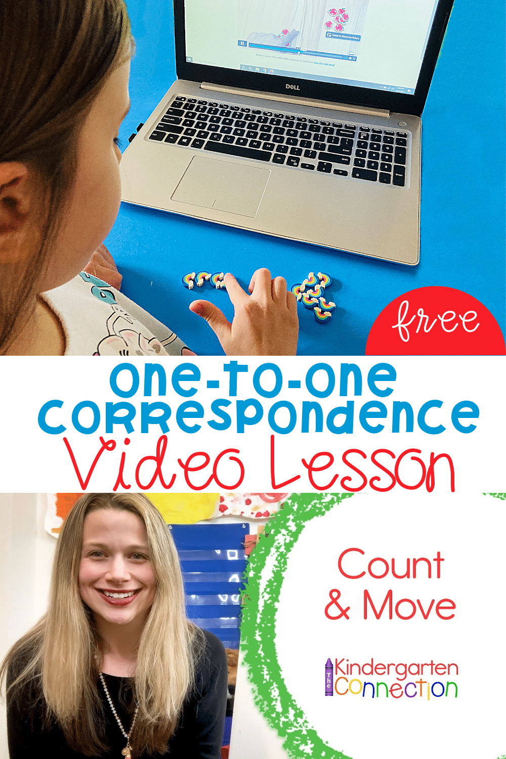 This One-to-One Correspondence Counting Video Lesson is a fun and effective way to get your Pre-K and Kindergarten students counting successfully!