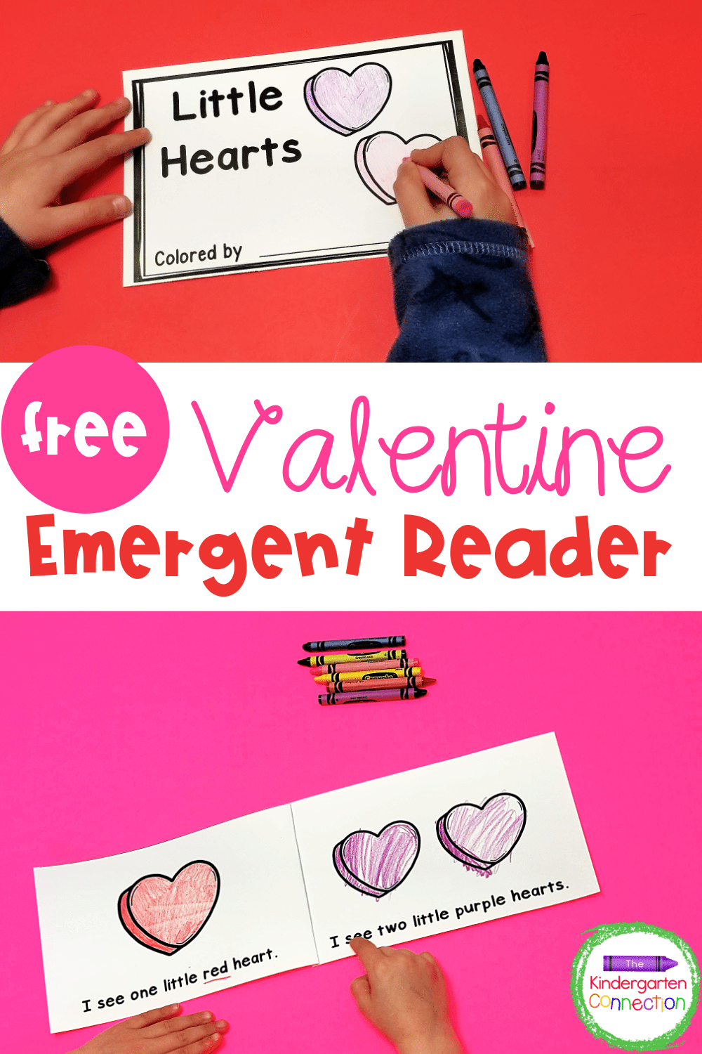 This FREE Valentine Emergent Reader is perfect for February! Build fluency and confidence while working on number and color words too!