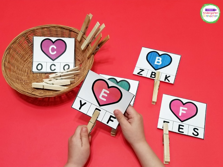 Practice fine motor skills and letter recognition with these alphabet clip cards.