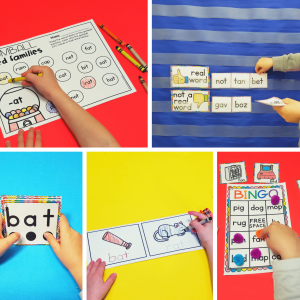 CVC Word Activities and Centers
