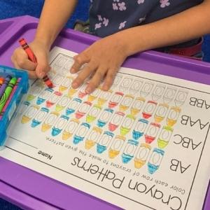 Crayon Color Patterns Activity
