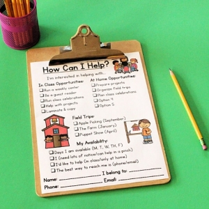 Editable Classroom Volunteer Survey