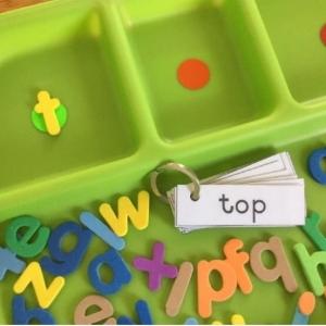 CVC Spelling Tray Activity