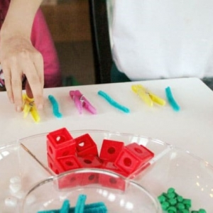 Making Patterns with Loose Parts Activity