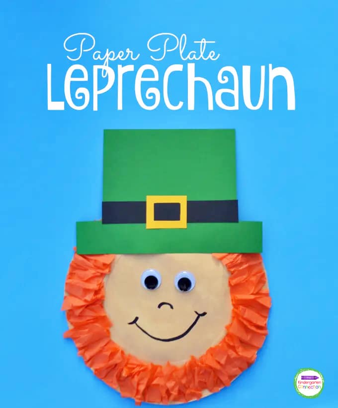 This Paper Plate Leprechaun is a fun and simple St. Patrick's Day craft that your kids will love making this March!
