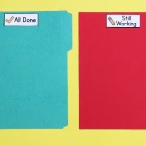 Labels for Organizing Student Work in the Classroom