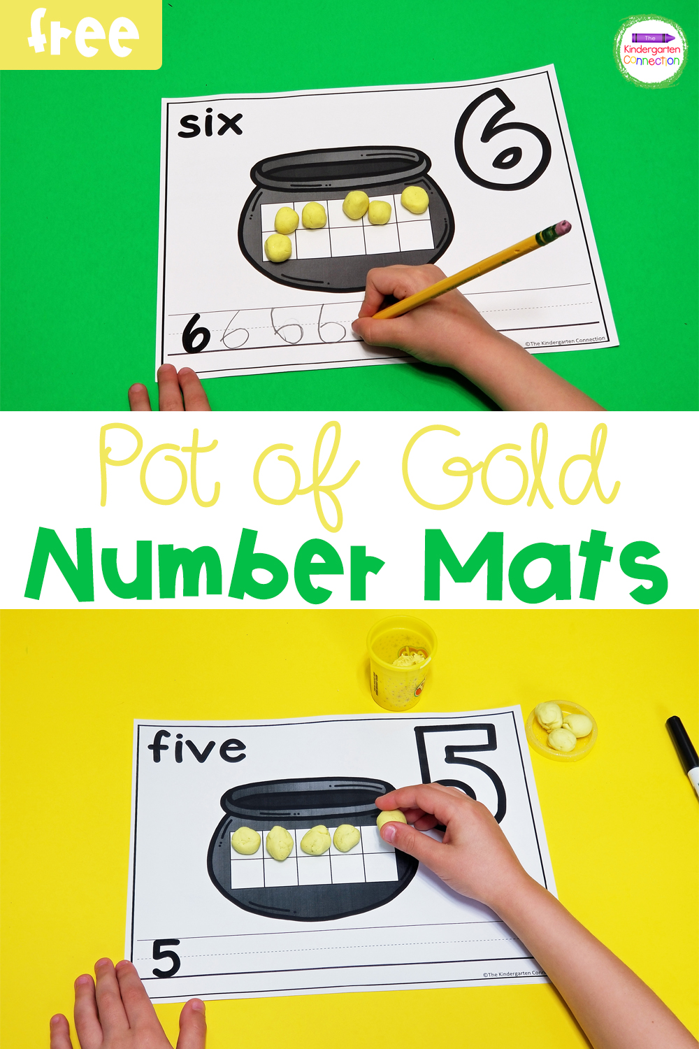 These free Pot of Gold Number Mats are perfect for working on numbers and counting in a fun, hands-on way this St. Patrick's Day!