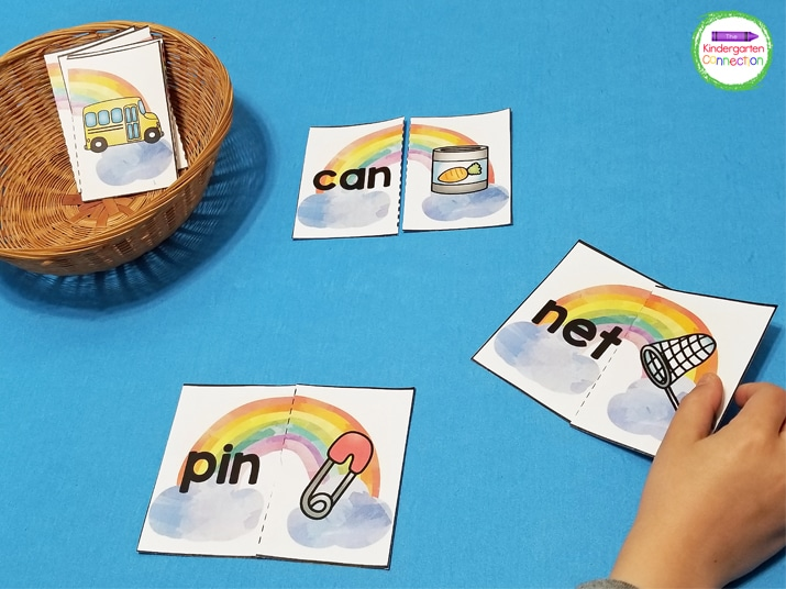 These puzzles are perfect for a literacy center in the home or classroom and are very easy to prep!