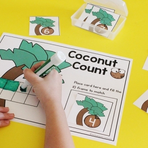 Coconut Counting Math Activity