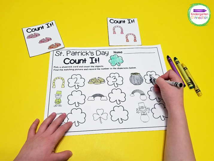 St. Patrick's Day Count It! is a fun, easy-prep game for practicing counting.