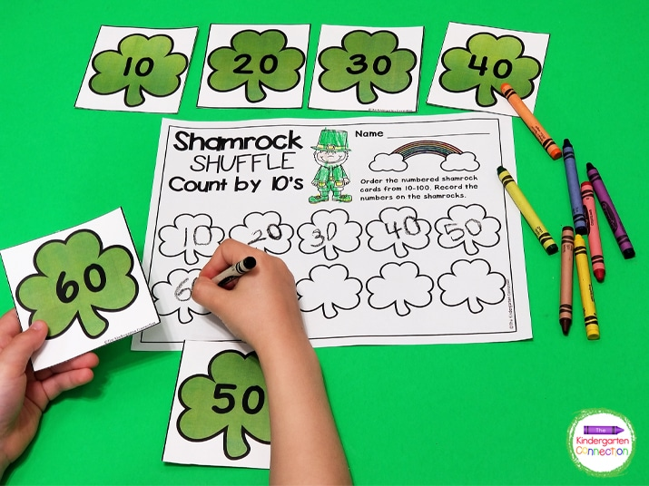 Practice number writing and skip counting in this Shamrock Shuffle game!