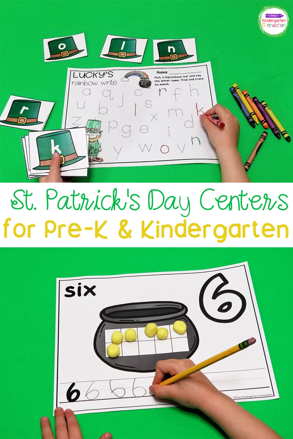 Grab these St. Patrick's Day Activities for Pre-K & Kindergarten and have your centers planned for you all month long!