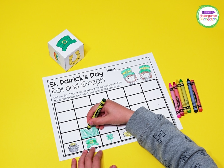 This roll and graph activity adds some seasonal fun to your math centers.
