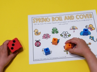 Spring Roll and Cover Math Activity