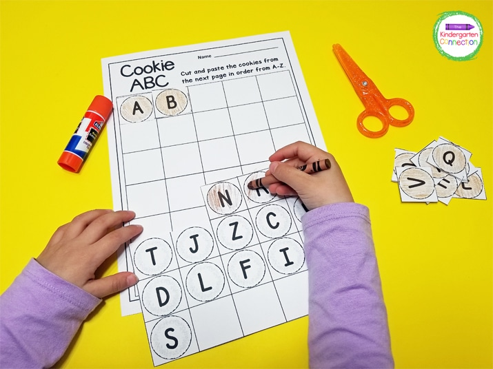 FREE Cut And Paste Alphabetical Order Activity For Kindergarten
