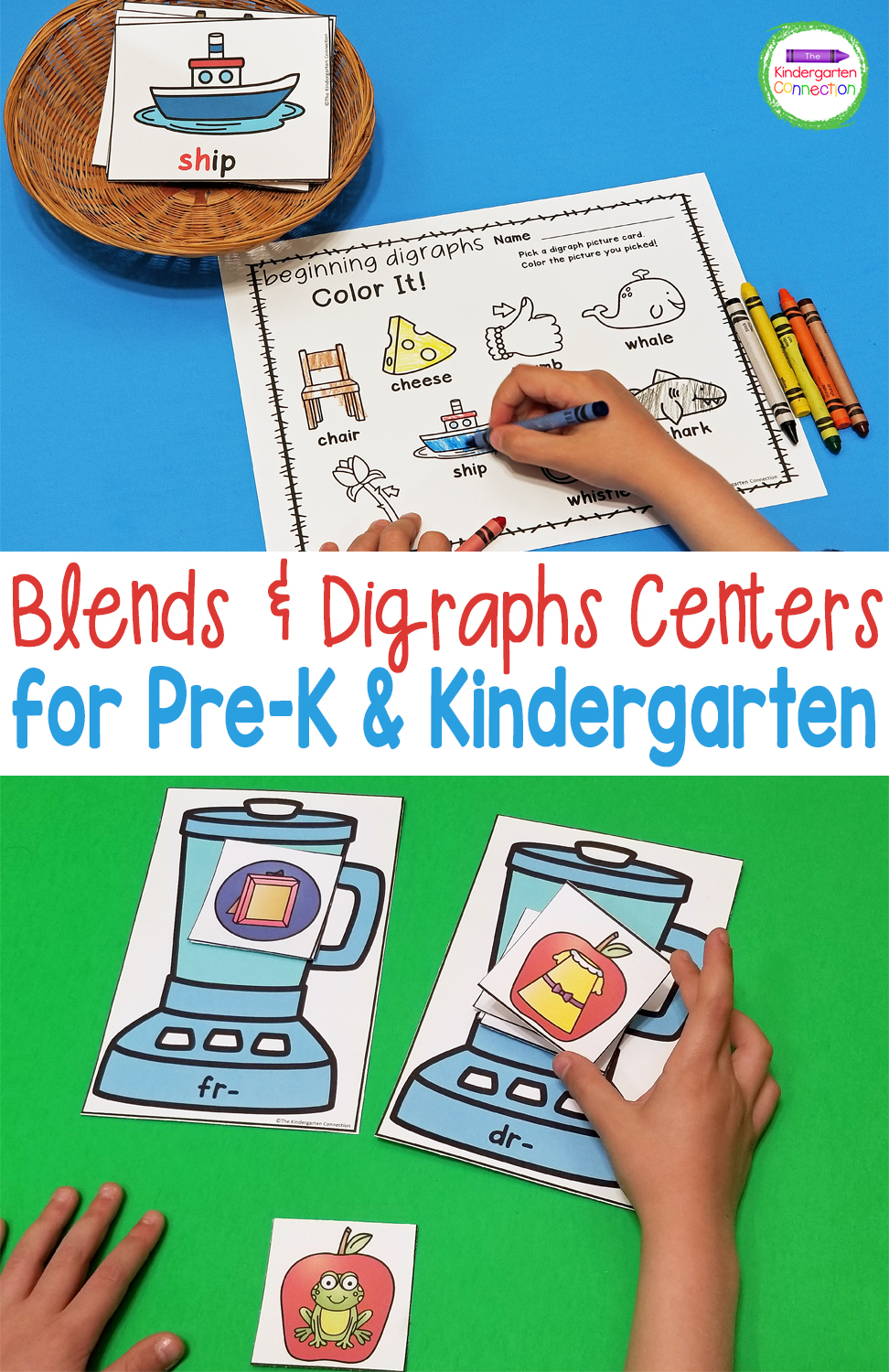 These Blends and Digraphs Activities and Centers will help early learners practice important reading skills in a hands-on and engaging way!