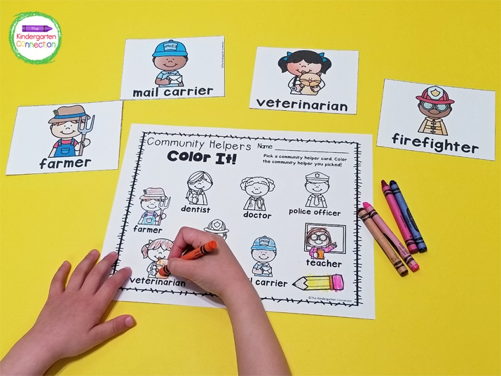 This resource pack also comes with a Color It! writing center your kids will love.