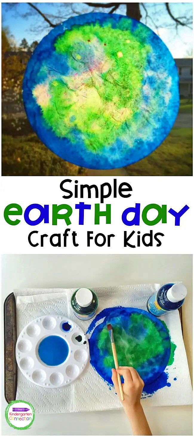 This Earth Day Craft is a fun, hands-on art project that teaches kids about the structure earth's surface and are beautiful to display!