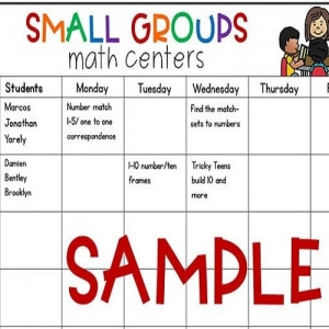 Editable Math and Literacy Small Group Planning Templates
