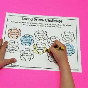 Editable Spring Break Homework