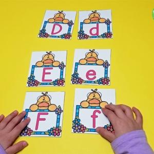 Lucky Ducks Alphabet Match