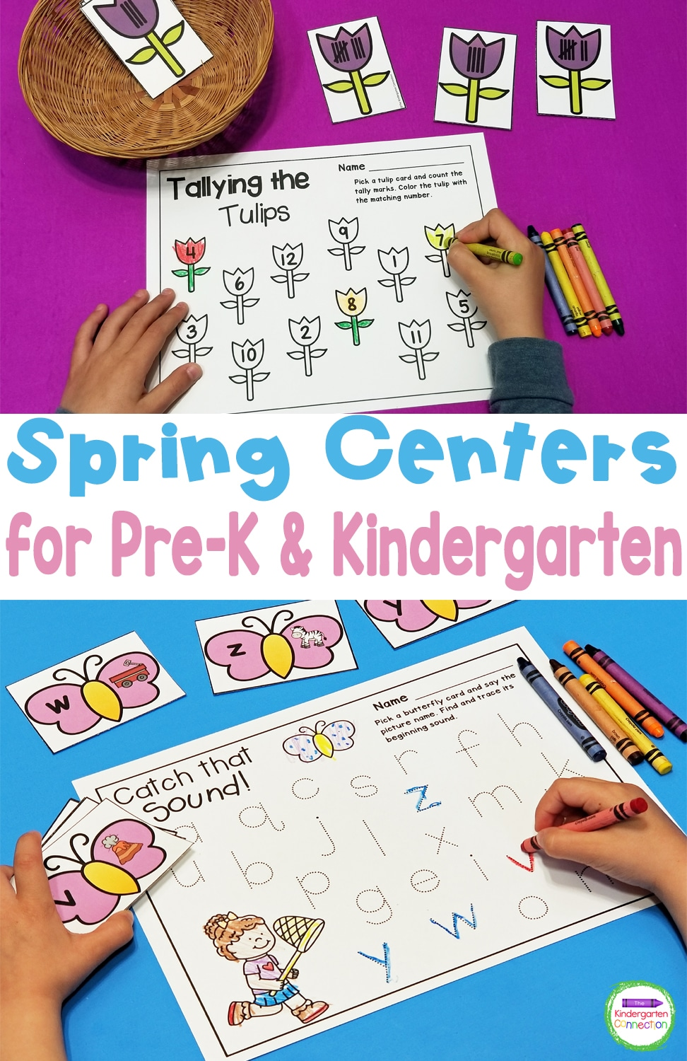 Welcome the new season and have your classroom centers planned out for you with these Spring Activities and Centers for Pre-K & Kindergarten!