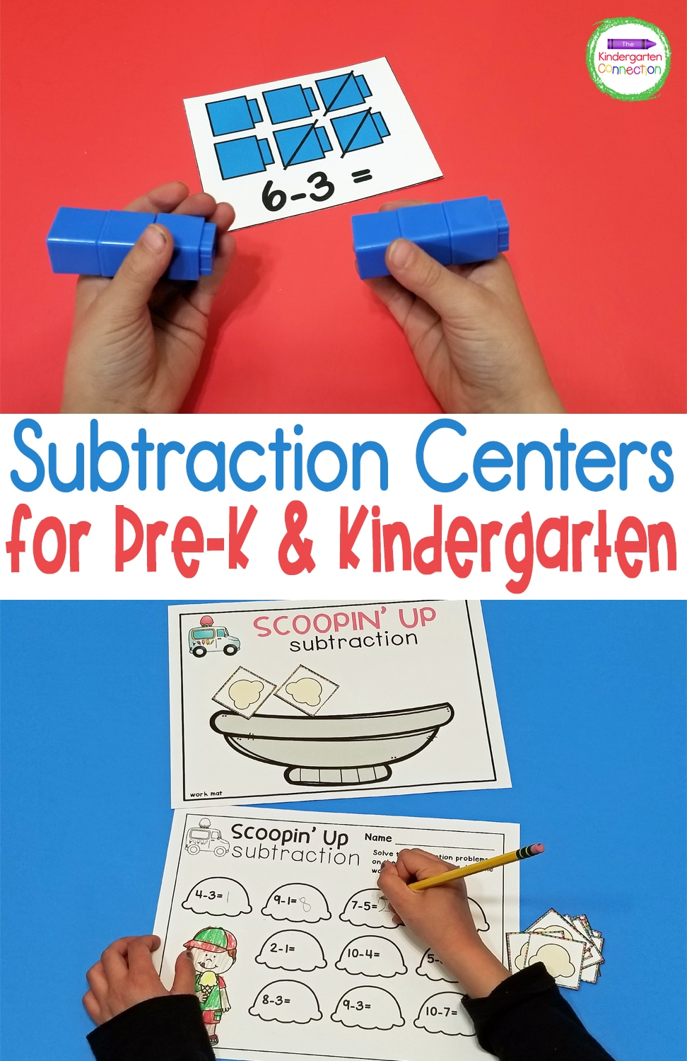 These Subtraction Activities and Centers are a great addition to any Pre-K or Kindergarten to build skills for subtraction within 5 and 10.