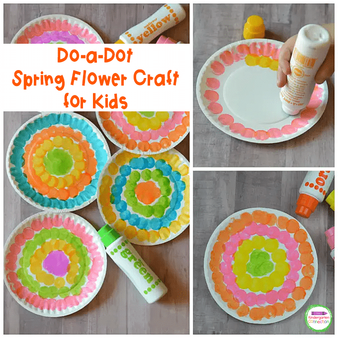 This pretty spring flower craft is low-prep and makes a great display in the classroom.