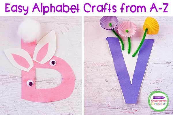 These letter crafts are low-prep and super fun!